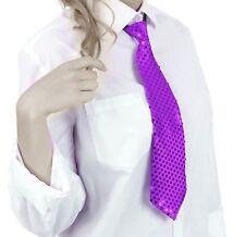 Krawatte Pailletten Glitzer Krawatte Party Fasching Pailletten Krawatte Lila
