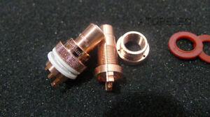 2pcs CMC 805-2.5CU-R Female RCA Jack Socket Connector Red Copper Swiss Cu.
