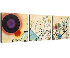 Quadro Moderno Stampa su Tela Cm 150x50 Arredamento Arredo Arte Kandinsky 3 Pz