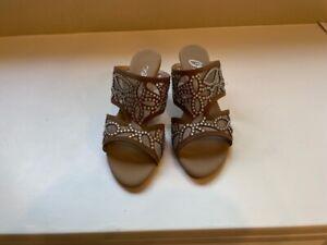 Onex Women's Biege/Silver/Sequins Shoe Size 8 or 38
