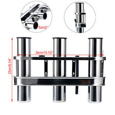 Stainless TRIPLE Fishing Rod Storage Holder Rack & Boat Organiser- Boat/Fishing