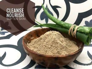 Pure Rhassoul Ghassoul Moroccan Lava Clay Powder + Aloe Vera  Repair Vegan