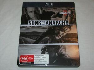 Sons Of Anarchy - Season 3 - 3 Disc - Steel Case - VGC - Region B - Blu Ray
