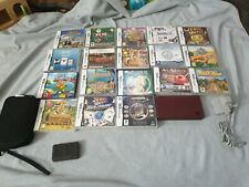 Nintendo DSi XL Bundle 18 games charger carry case see listing