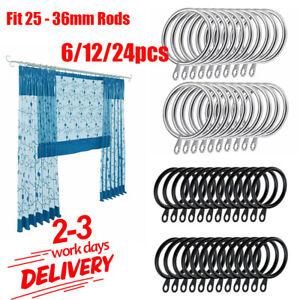 Metal Curtain Rings Hanging Hooks for Curtains Rods Pole Voile Heavy duty