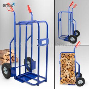 BITUXX Brennholzkarre Kaminholzkarre  Holzkarren Holztransporthilfe Sackkarre