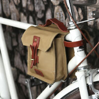 Tourbon Vintage Bike Bicycle Frame Bag Double Panniers Cycling Front Tube US