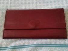 CHRISTIAN DIOR Maroon AUTHENTIC Leather Vintage Purse Wallet B7