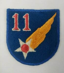 WWII WW2 USAAF 11th US Army Air Force Embroidered Felt Shoulder Patch