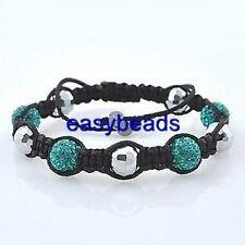 Shamballa bracelet 10mm Green beads with Swarovski crystal stones