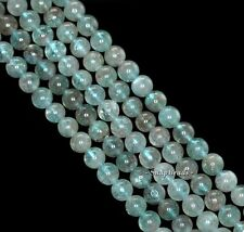 5MM-6MM GREEN APATITE GEMSTONE GRADE A ROUND 5MM-6MM LOOSE BEADS 15.5""