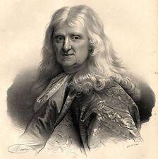 Grand Portrait de Thomas Corneille - Lithographie In Folio Originale XIXème