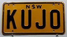 "Nummernschild Australien New South Wales ""KUJO""! 3114"