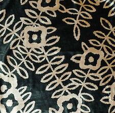 ANDREW MARTIN Roulette sand/black cotton rayon floral velvet  New Remnant