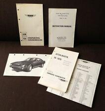 1979 ASTON MARTIN AM V8 STANDARD VOLANTE VANTAGE 1979 OWNERS MANUAL SUPER RARE