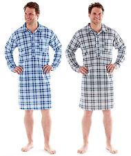 Mens Night Shirt Traditional Striped Nightshirt Quilt Warm