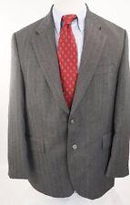ALEXANDRE LONDON Gray Herringbone Sport Coat Wool Blazer Men US 42S EUR 52