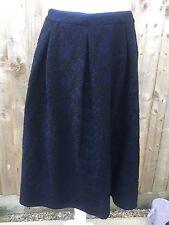DOROTHY PERKINS Midi Length Skirt Blue And Black Size 12 Goth Emo