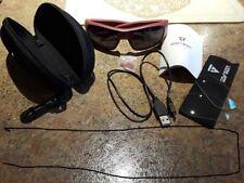 Burgandy GoVision SOL 1080p HD Camera Glasses Video Recording Sport Sunglasses