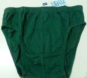 Men's Briefs Jocks Undies 100% Cotton Dark Green Vintage Style M 85-90cm BNWT