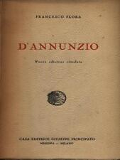 D'ANNUNZIO  FLORA FRANCESCO CASA EDITRICE GIUSEPPE PRINCIPATO 1935