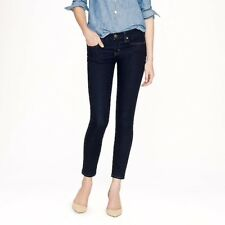 J. Crew Ankle Toothpick Jeans in Classic Rinse 25x27, Low Rise Sz 25 - MSRP $125