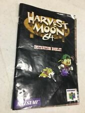 NINTENDO 64 N64 MANUAL HARVEST MOON GAME INSTRUCTIONS N 64 BOOK NES HQ