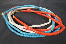 3 Stränge alte Glasperlen Z Old Bapterosse Prosser African Trade beads Afrozip
