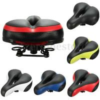 Wide Big Bum Bike Reflector Saddle MTB Road Bicycle Cycling Comfort Seat Gel
