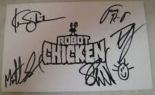 SDCC Comic Con 2015 Robot Chicken Adult Swim Cast Promo Card Seth Green SIGNED A