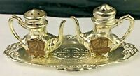 Vintage Salt & Pepper Shakers, Antique Silver Smiths Tray San Diego Souvenir