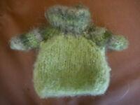 1960'S Handmade ? Green VINTAGE BARBIE SWEATER cowl neck