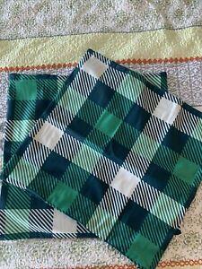 Party Buzz Throw Pillows Set Of 2 18x18 Green Plaid