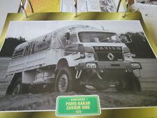 SUPER Trucks renntrucks Francia Parigi Dakar Saviem sm8, 1979
