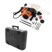 1600W 240V Impact Hammer Drill Variable Speed Electric Concrete Breaker Bits Set
