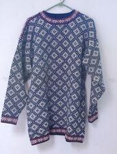 Vintage Apleks Norwegian 100% Wool Crewneck Sweater Men's L