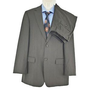 Def Hugo Boss Men's 2 PC Suit Bertolucci/Movie Wool Pinstripe Sz EU48 AU38 SU31
