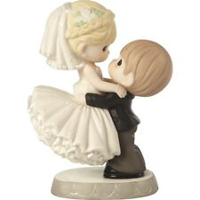 $ New PRECIOUS MOMENTS Porcelain Figurine WEDDING COUPLE Cake Topper Statue