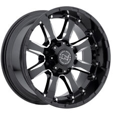 "18"" BLACK RHINO SIERRA BLACK MILLED WHEELS RIMS 18x9.0 8x165 12et"