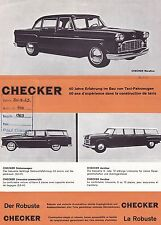 Checker Marathon aerobus estación Pullman folleto Sheet 1963 Alemania +++++++