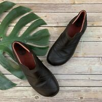 Merrell Womens Primo Patch Bug Brown Slip On Clog Shoes Size 8.5 Leather Comfort