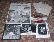 "Lot Dead Kennedys Biafra Nomeansno Poster 7"" Nazi Punks + Armband + Flyer +Photo"