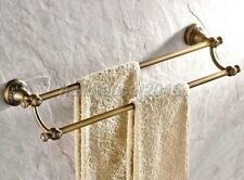 Antique Brass Wall Mounted Bathroom Towel Holder Double Towel Bars lba425