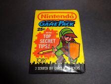 1989 Topps Nintendo Game Pack (x1) Fresh from Box!