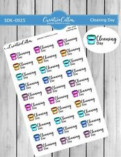 Sdk-0025 Planner Stickers Functional 30 Cleaning Day, Cleaners, House Cleaning