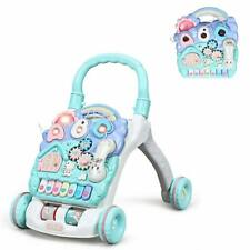 Lauflernhilfe mit Spielbrett Baby Walker mit Lichtern und Musik Gehfrei für Baby