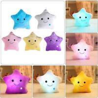 Soft Cotton LED Luminous Pillow Toys Pentagram Stars Glowing Light Birthday Gift