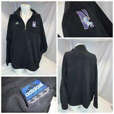 Northwestern Wildcats Adidas Fleece Pullover XL Men Black Poly ¼ Zip YGI I0-412