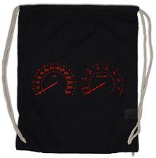 SPEEDOMETER Drawstring Bag Tacho Car Racing Tuning Oldtimer Classic Speed KM/H
