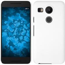 Funda Rígida Google Nexus 5X - goma blanco + protector de pantalla